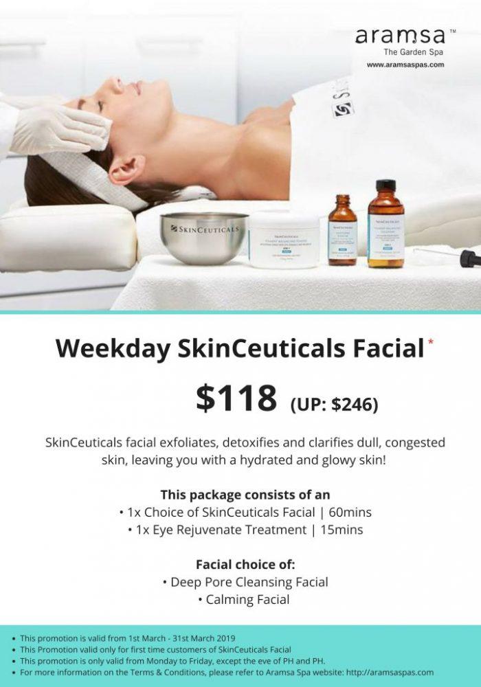 Skinceuticals $118 Facial