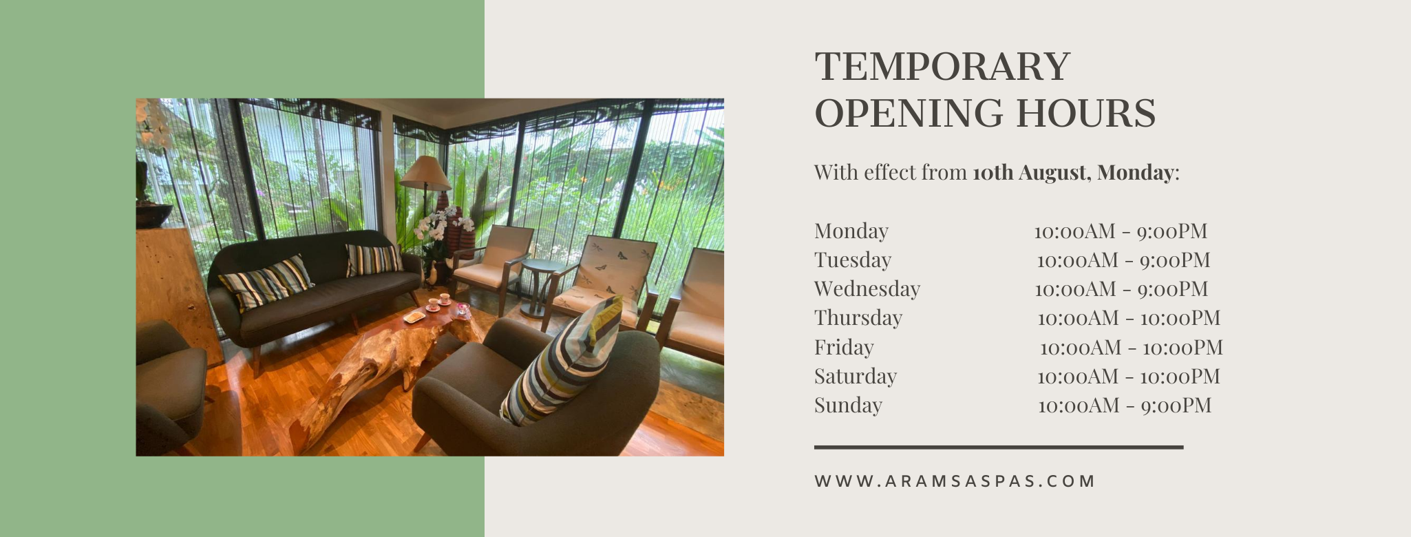 TEMPORARY OPENING HOURS (AUGUST) (1)