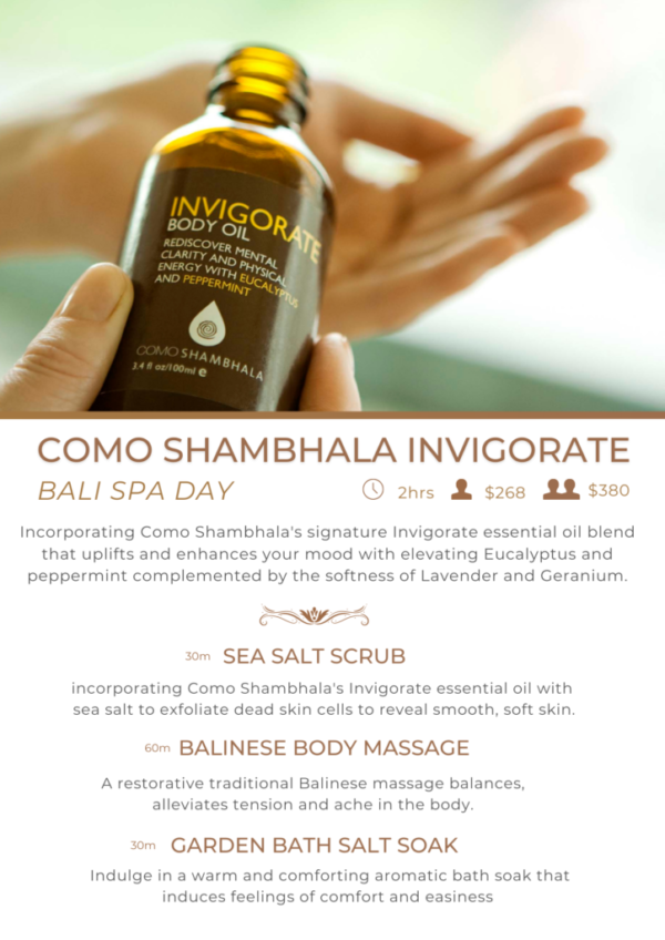 Como Shambhala Invigorate Bali Spa Day