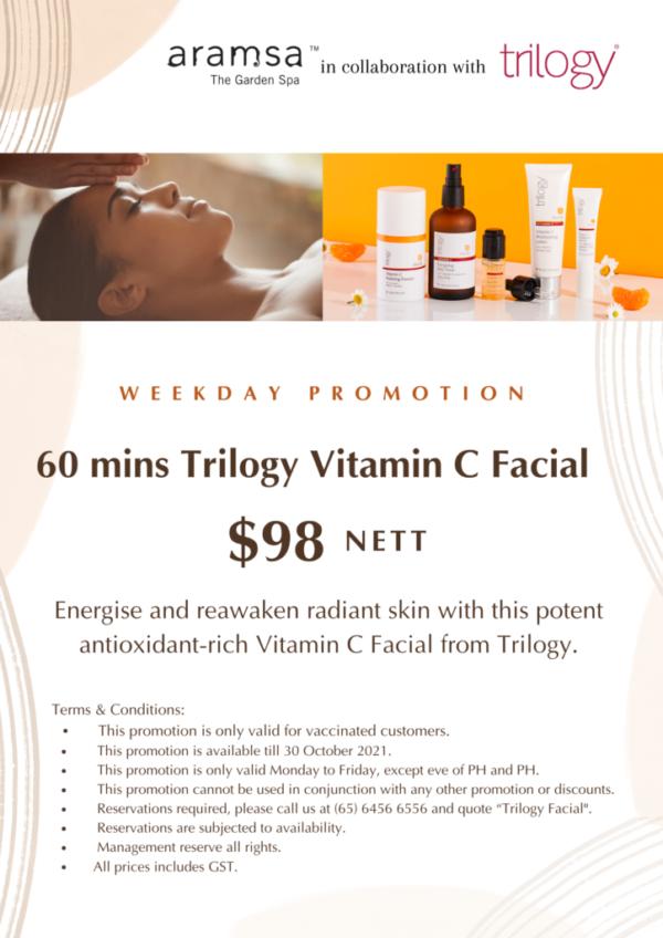 Trilogy Vitamin C Facial - $98 nett